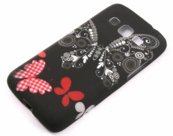Husa Huawei Ascend Y511 , white butterfly , silicon, negru
