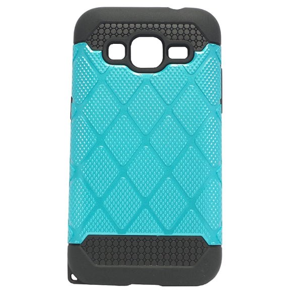 Husa Samsung Galaxy Core Prime G360, Royal, plastic cu silicon, double protection, bleu