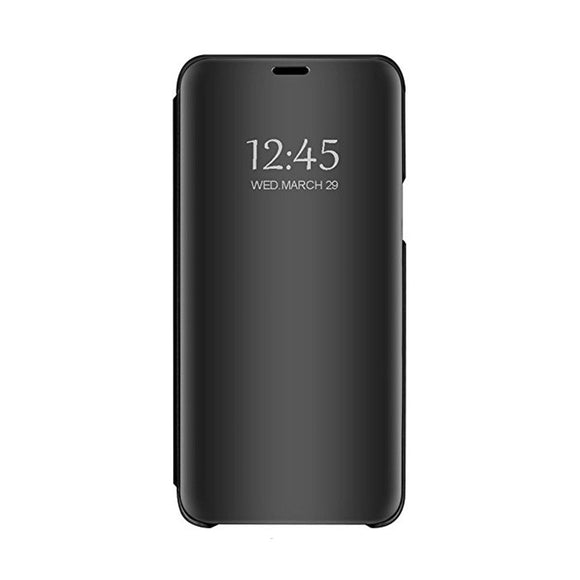 Husa Huawei P Smart 2019, mirror, carte, clear view, neagra