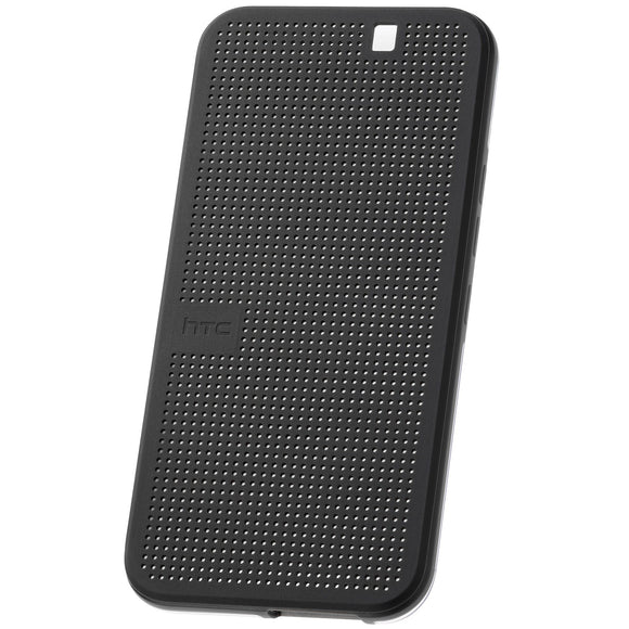 Husa HTC One M8, plastic, Dot View, neagra