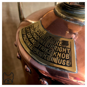 1937 Read & Campbell Copper Fire Extinguisher Lamp