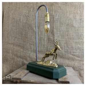 Solid Brass 'Nelson' Springbok Table Lamp