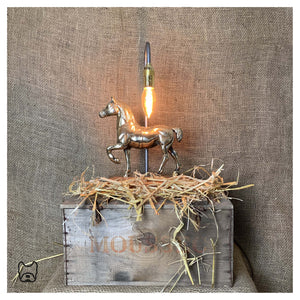 Solid Brass Horse Table Lamp