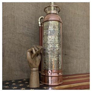 1928 American Copper Fire Extinguisher Lamp