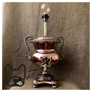 Regency Copper Samovar Lamp