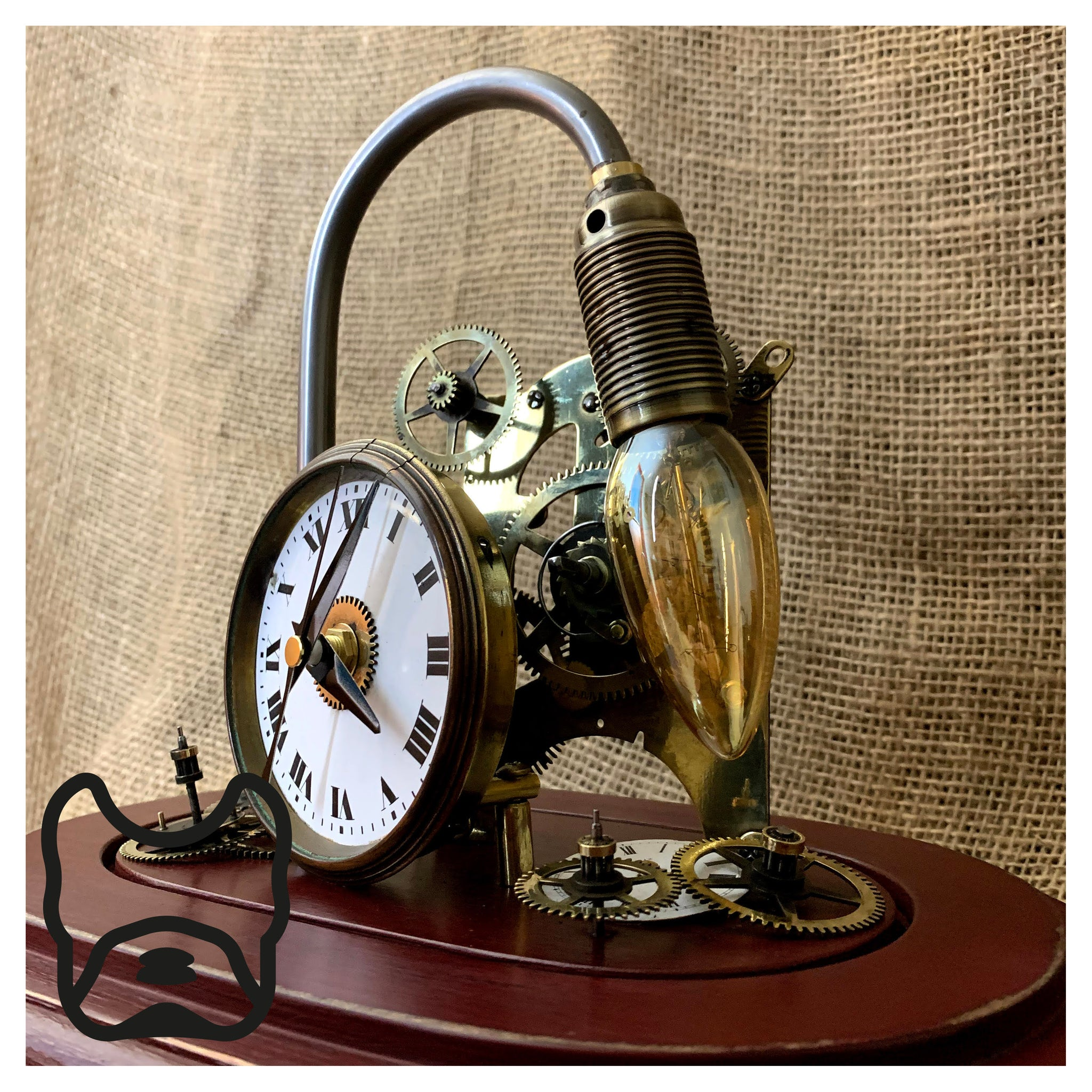 Mantle Clock Glass Dome Lamp