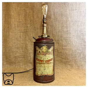 "French ""Le Rapide"" Fire Extinguisher Lamp"