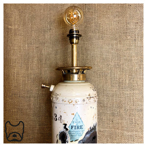 Cream Fire Extinguisher Lamp