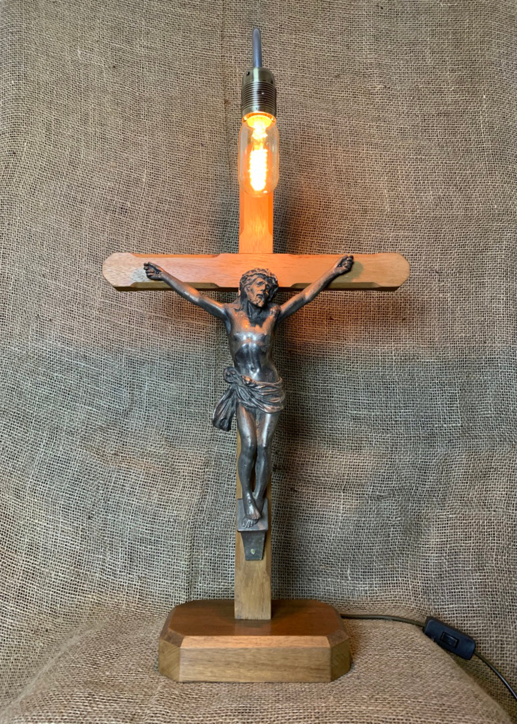 Jesus Crucifix Table Lamp