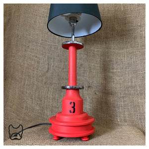 Vintage Cotton Spool Lamp Red