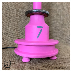Vintage Cotton Spool Lamp Pink