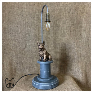 French Bulldog Table Lamp Grey