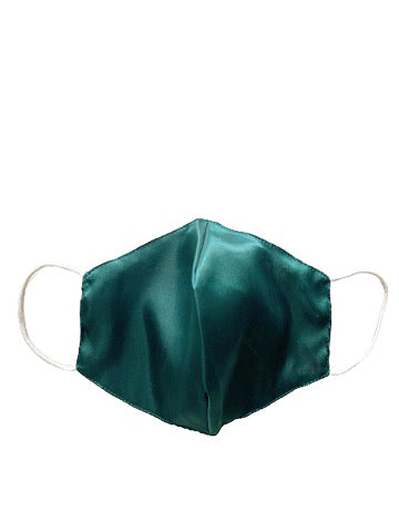 BACK-TO-ESSENCE 100% SILK MASK - EMERALD GREEN (Made-to-Order)