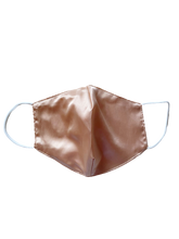 Load image into Gallery viewer, BACK-TO-ESSENCE 100% SILK MASK - ROSE GOLD (Made-to-Order)