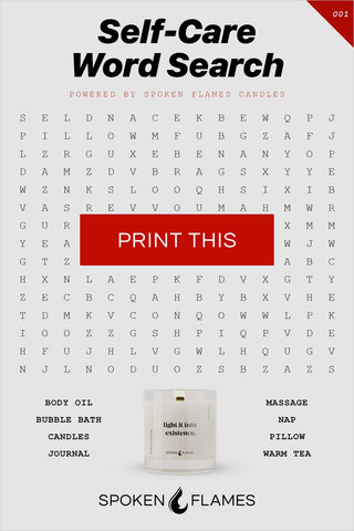 Spoken Flames Word Search Puzzle 001