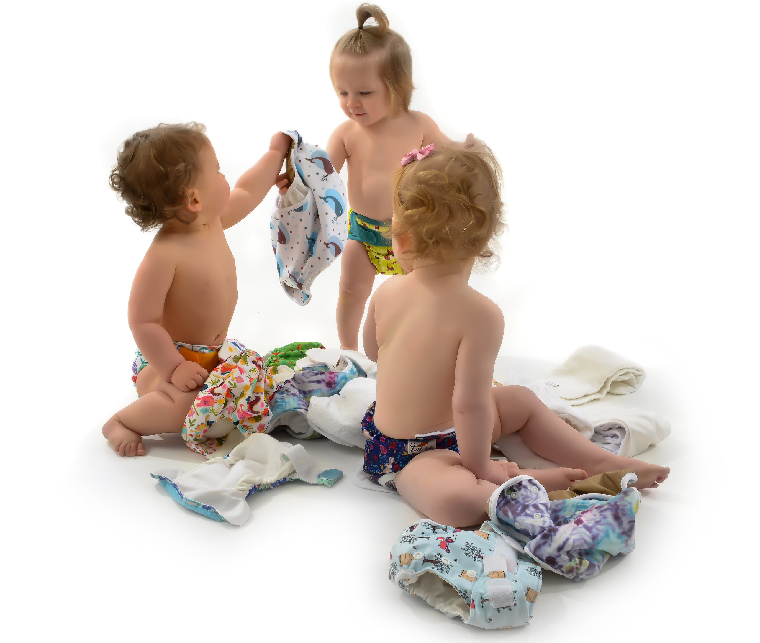 babies in reusable nappies