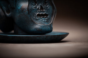 Subconsciente en una bandeja acabado azul Subconscious on a Platter blue and black finish