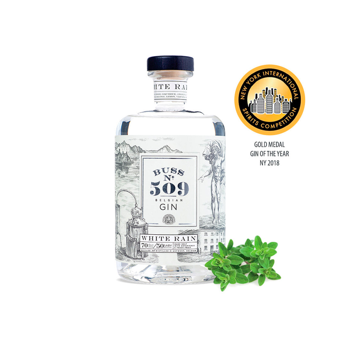 Buss No 509 White Rain Gin, 700ml