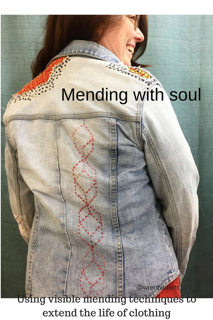 DIY Project: Salvaging Ravaged Clothing with Visible Stitching
