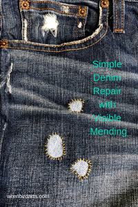 Simple Denim Repair with Visible Mending