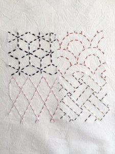 The Symmetry of Sashiko Stitching