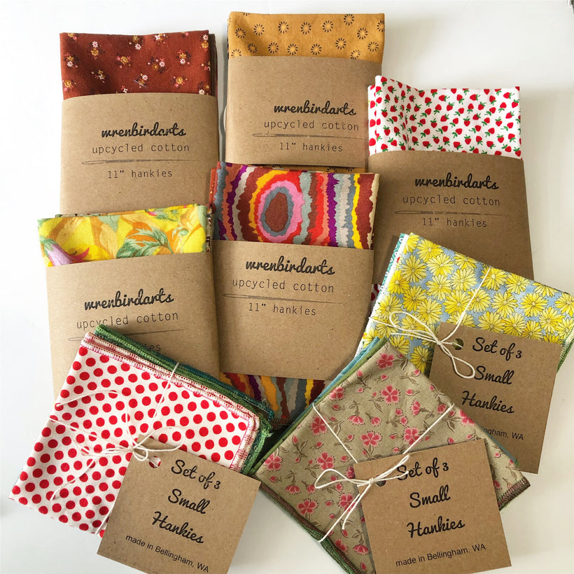 Patterned & Embroidered Hankies