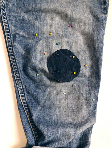 Patching denim layers