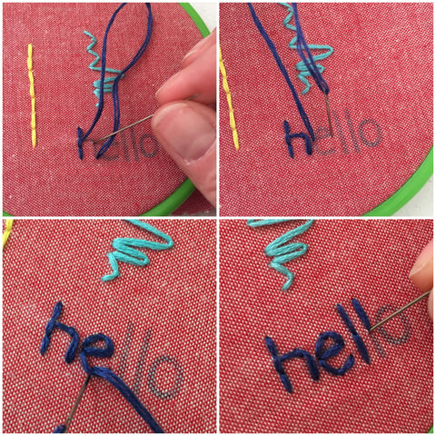 how to embroider text