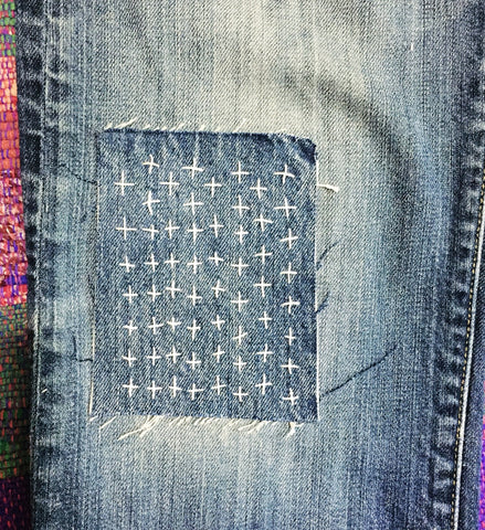 Sashiko patch by Erin Eggenburg