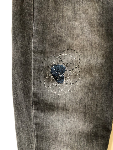 circle sashiko stitching