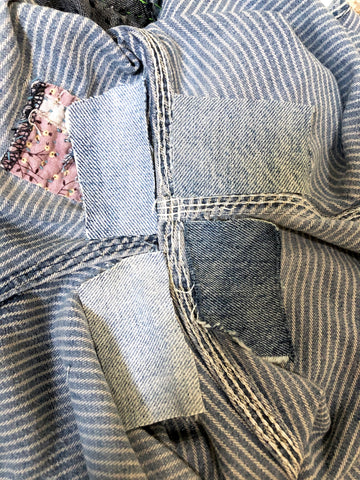 Patching underside of denim