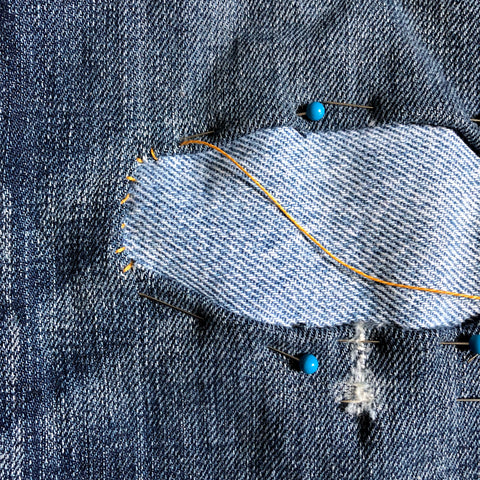 simple denim patching