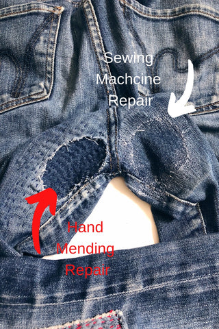 Denim Repair wrenbirdarts