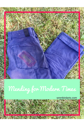 Visible Mending on Clothing