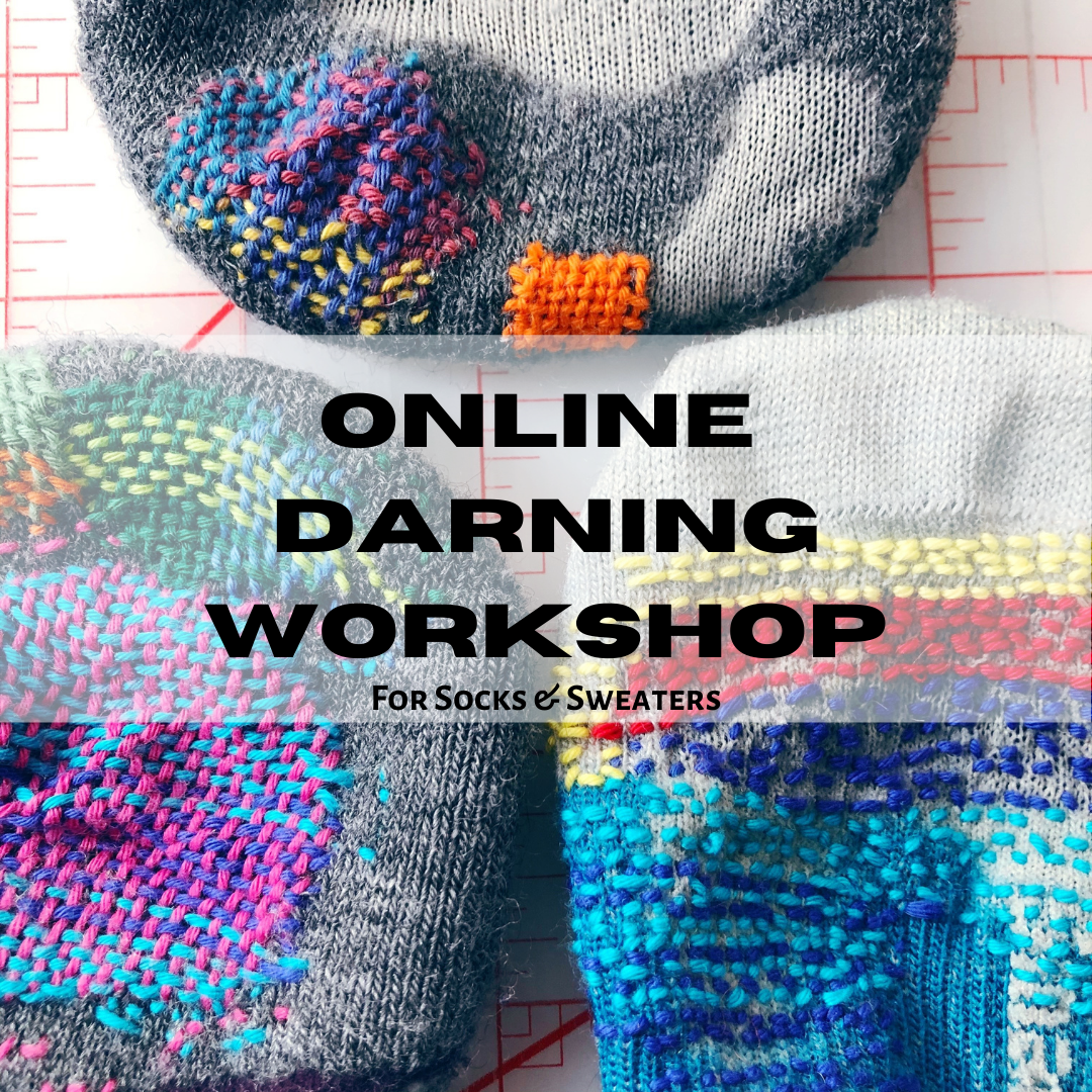 ONLINE Darning Workshop for Socks and Sweaters