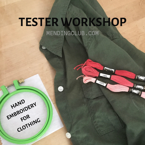 TESTER WORKSHOP: Hand Embroidery for Clothing