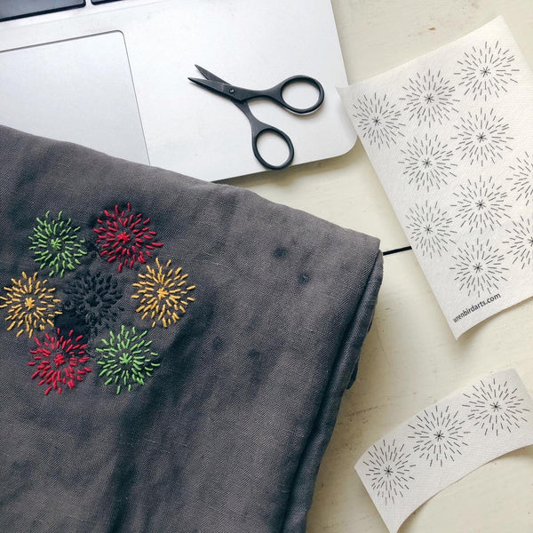 Mending Transfers #3 Winter Visible Mending Patterns Water Soluble Designs