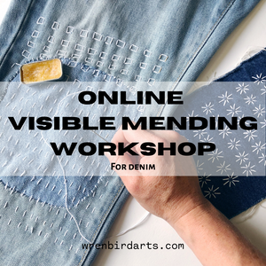 ONLINE Visible Mending for Denim Workshop