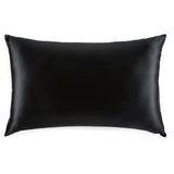 Queen size black Silk Works London 100% mulberry silk pillowcase with hidden zip