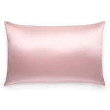 King size pale pink Silk Works London 100% mulberry silk pillowcase with hidden zip
