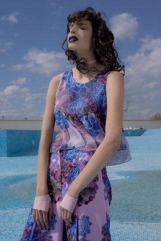 Purple/Lime Echreveria Jellyfish Blouse