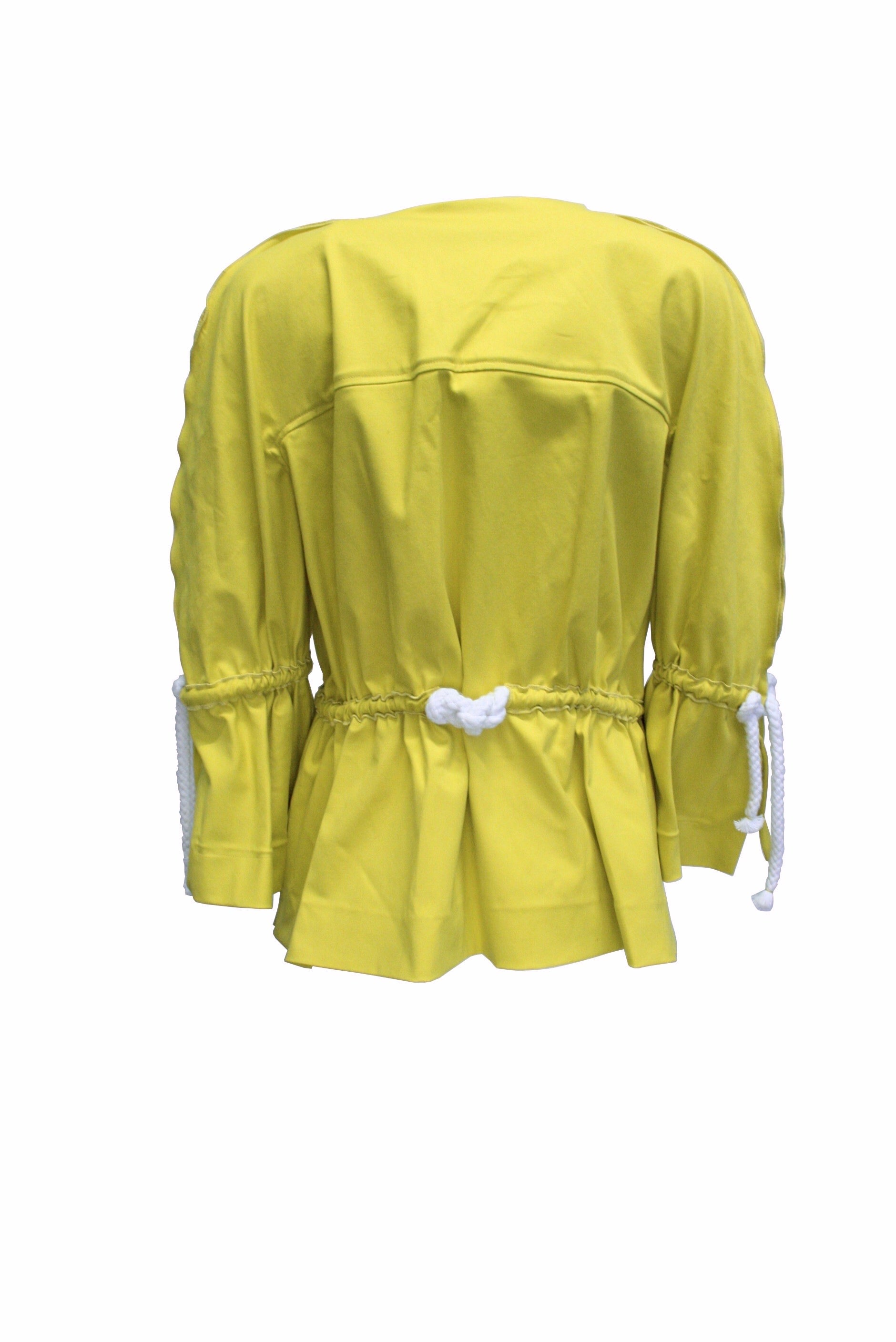 Acid Yellow Denim Short Jacket