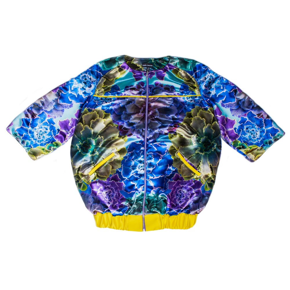 Purple Echreveria Oversized Bomber