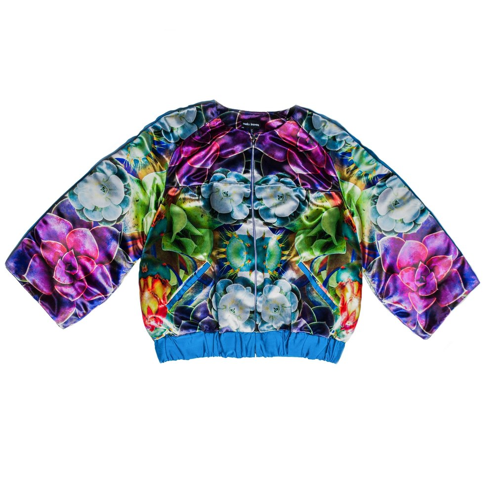 Multi Flora Short Bomber