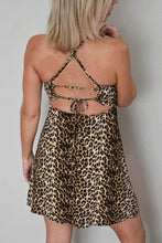 Load image into Gallery viewer, Leopard Print Woven Open Back Dress