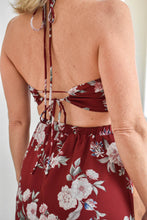 Load image into Gallery viewer, Burgundy Floral Print Dress