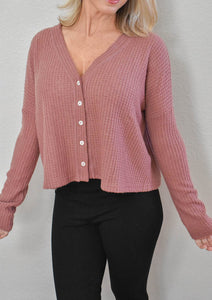 Pleated Pattern Sweater with Buttons