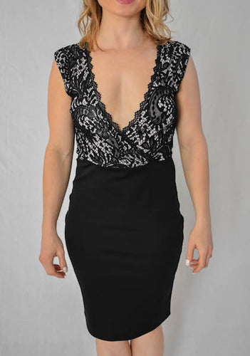 Lace Black Sheath Dress