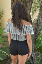 Load image into Gallery viewer, Pinstripe Petite Crop Top