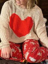 Load image into Gallery viewer, Big Heart Sock Monkey Sweater